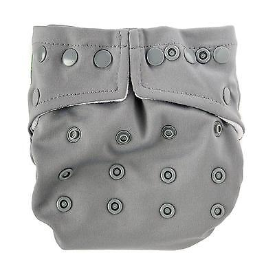 Bumkins One-Size Snap-In-One Cloth Diaper: Gray - All-in-Two/Hybrid Cloth Diaper Bumkins All In One Diapers