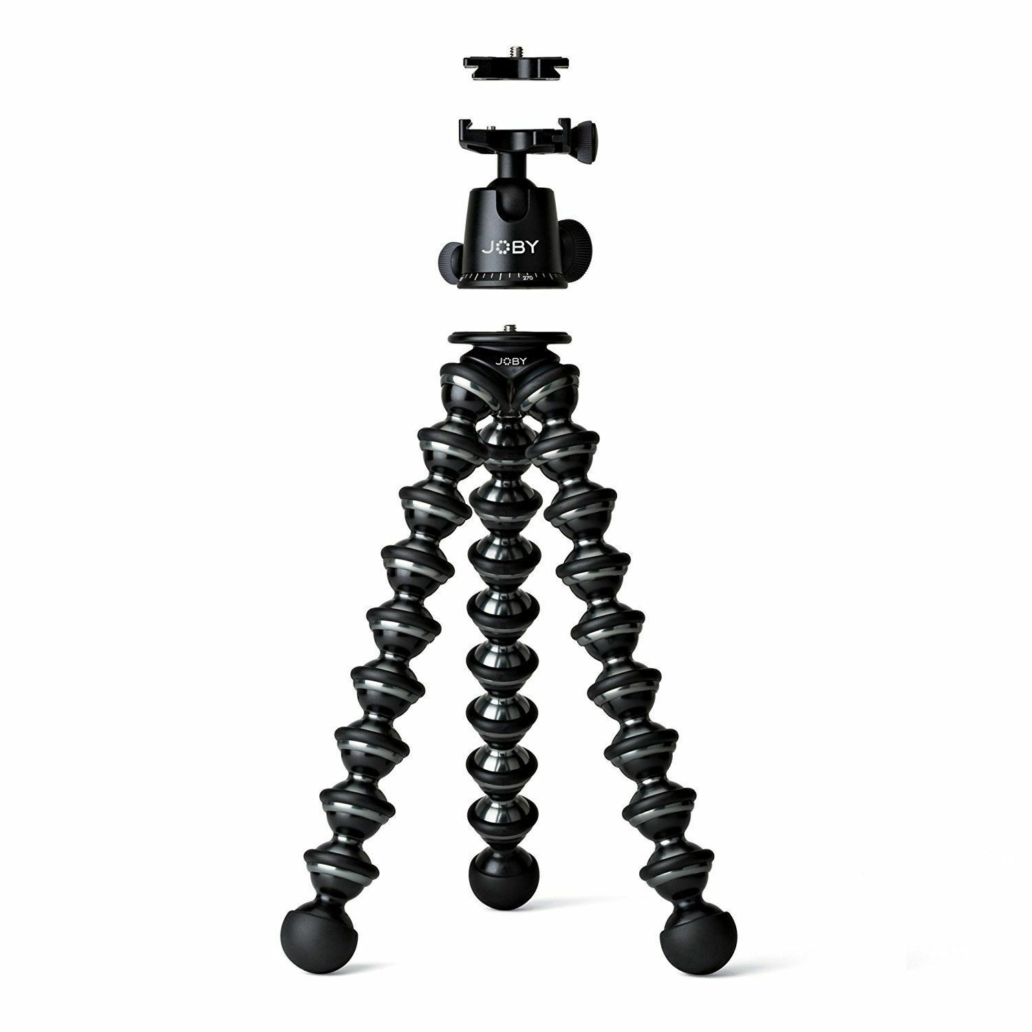JOBY GorillaPod Focus and Ballhead X Bundle, Black/Gray