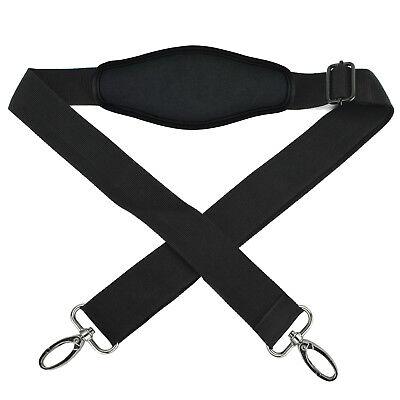 как выглядит Сумка или чехол для ноутбука Universal Black Replacement Adjustable Shoulder Padded Strap for Duffle Tote Bag фото