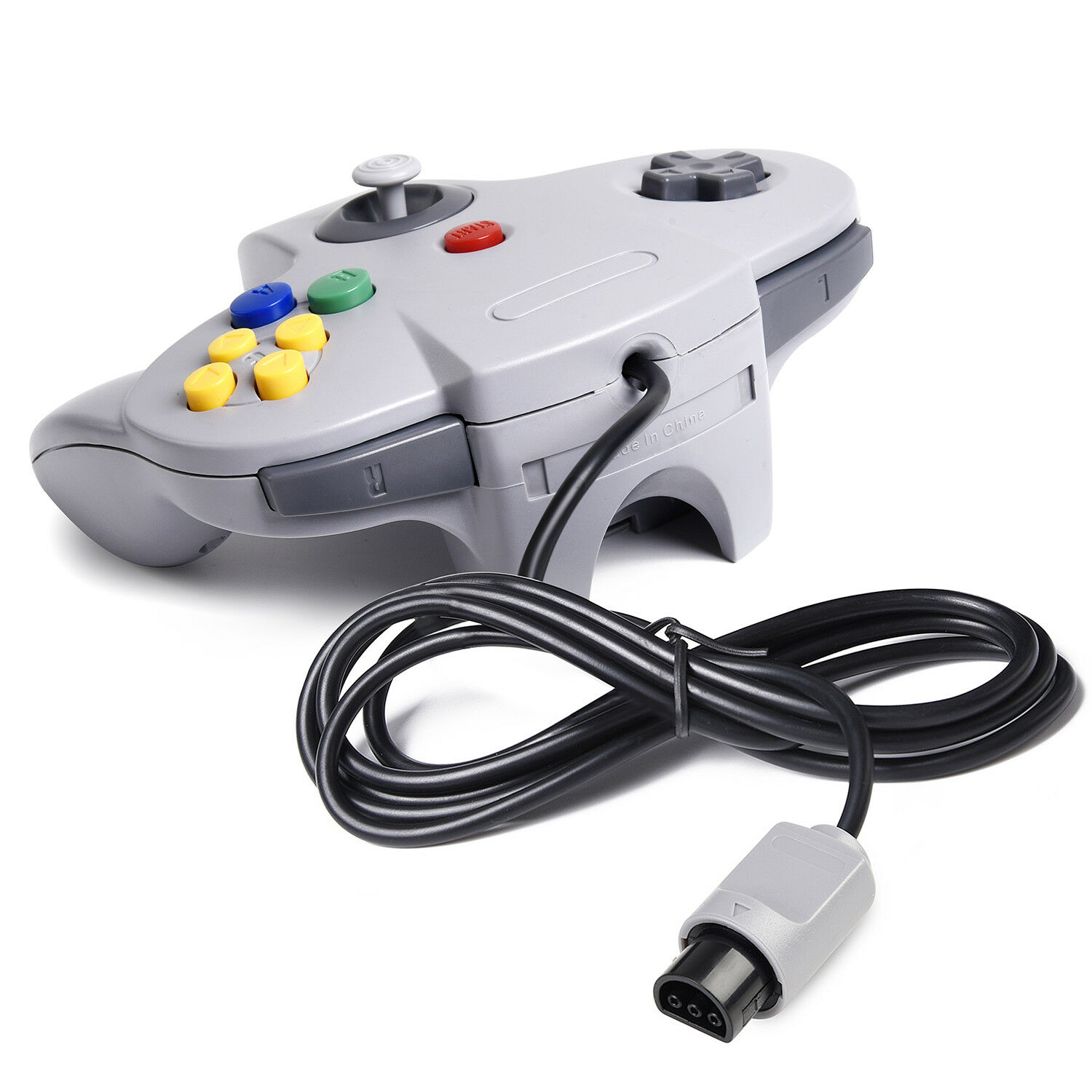 kiwitat/á Retro Wired Game Pad Controller Joystick for N64 System Video Games Console Ice Blue 2 Pack Classic N64 Controller
