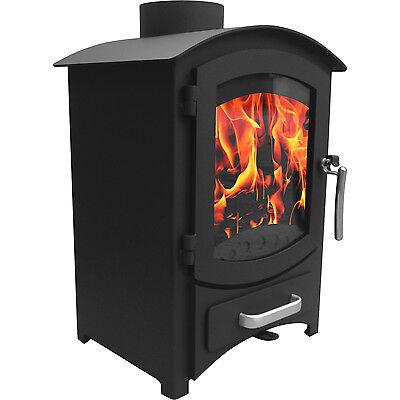 6.22KW Modern Log Burner MultiFuel Wood Burning Stove WoodBurner Fireplace