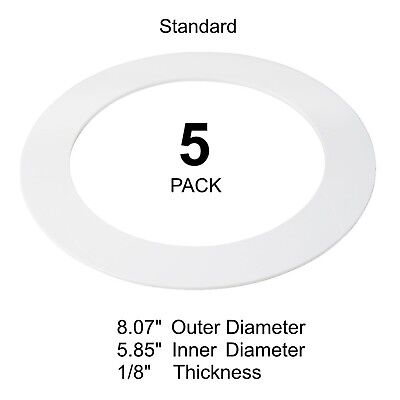 (New 5 Pack White Goof Ring Trim Ring for Recessed Can and 6