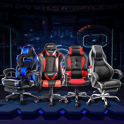 SALE! Office Gaming Chair High Back Racing Recliner Bucket Seat Executive Swivel