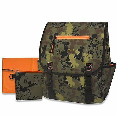 Disney Mickey Mouse Camo Diaper Bag Backpack