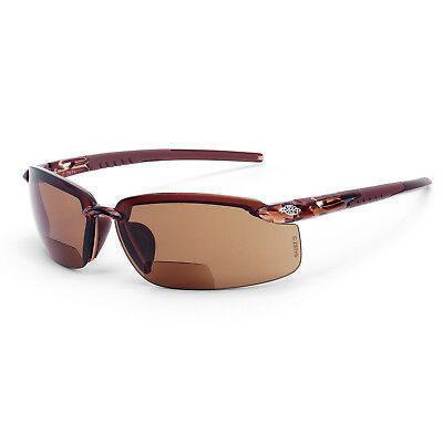 Crossfire Es5 Reader 2.0x Bifocal Brown Frame Brown Lens Safety Glasses 2911720