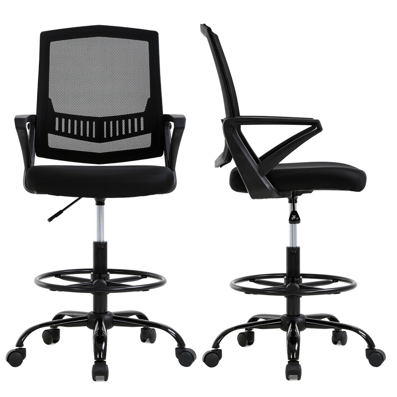 mesh drafting chair tall office chair