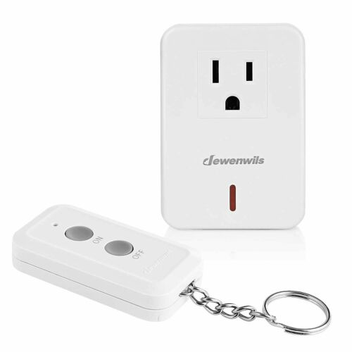 DEWENWILS Remote Control Outlet 100 ft RF Range Wireless Remote On Off Switch