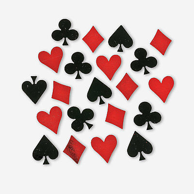 Casino Vegas Alice In Wonderland Party Decoration CARD SUIT Foil CONFETTI