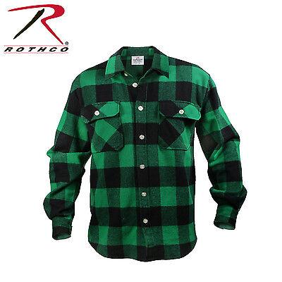 Buffalo Plaid Flannel - Rothco 4739 Extra Heavyweight Buffalo Plaid Flannel Shirts