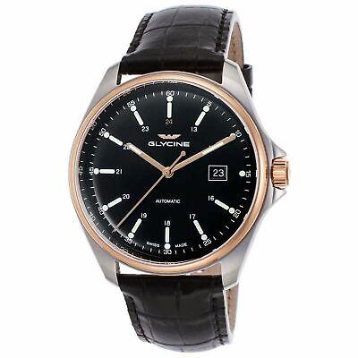 Glycine 3916.393.LBK9 Men's Combat 6 Classic Black Automatic Watch