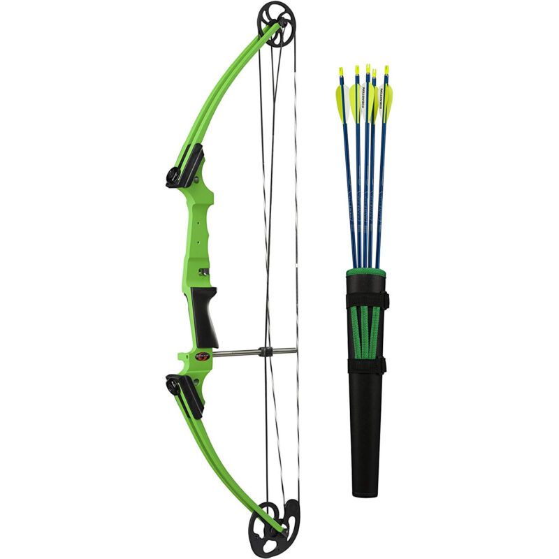 Genesis Archery Green Compound Target Practice Bow Kit, Left Handed (Open Box)