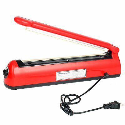 12 300mm Impulse Sealer Manual Heat Sealing Machine Poly Tubing Plastic Bag Us