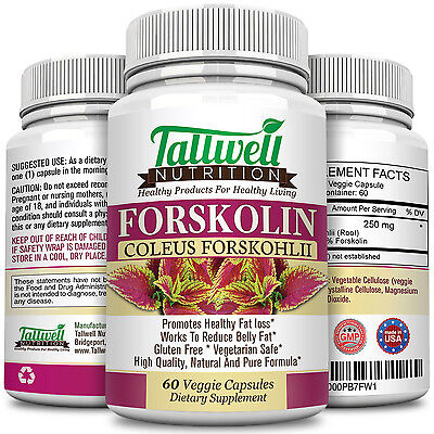Pure Forskolin Extract   Best Weight Loss   Fat Burning Diet Pills  60 Capsules