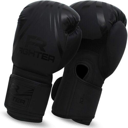 Black Boxing Gloves for MMA Training Punching Bag Kickboxing For Men Women Adult