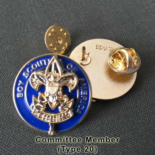 Scout Committee Member Position Insignia Badge, One Pair (2) (Scouter Boy Pin)