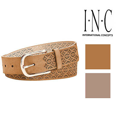 INC International Concepts Perforated Leather Belt