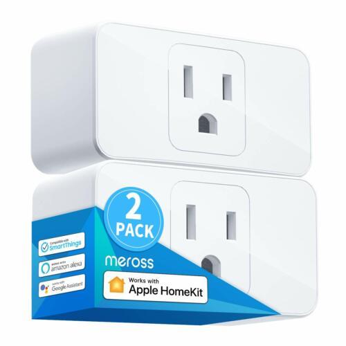 [2 Pack] HomeKit Smart Plug for iPhone Support Amazon Alexa, Echo, Google Voice