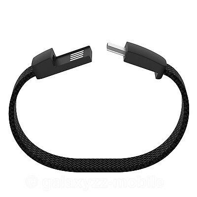 Lumdoo Fun Textile USB Armband 21cm microUSB Ladekabel Datenkabel Schwarz ()