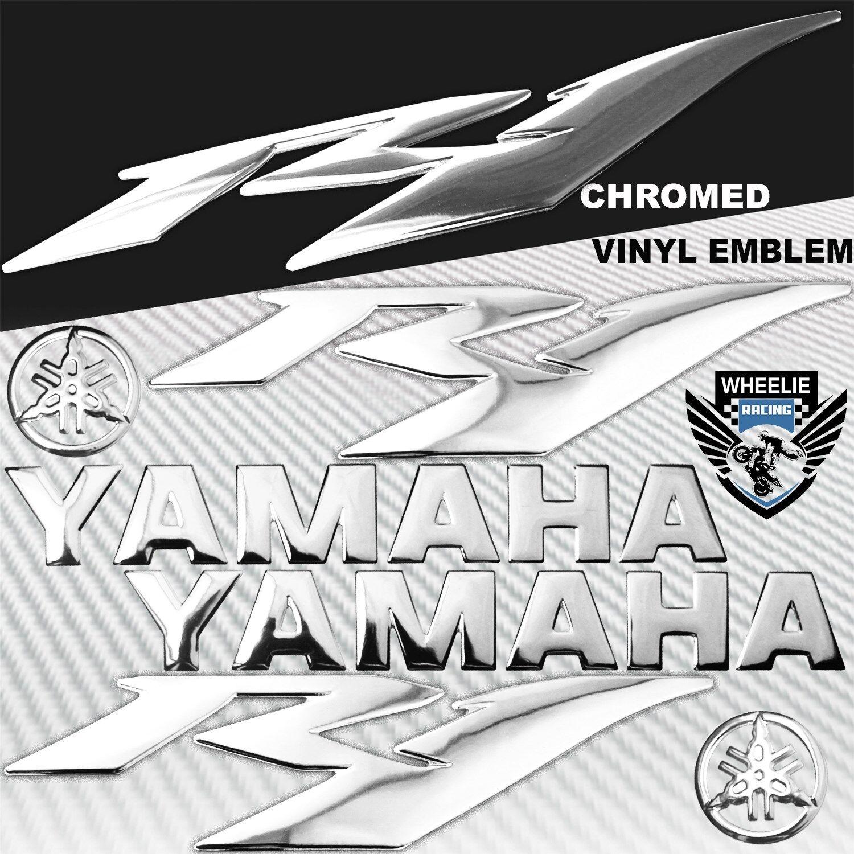 "5.75/"" 3D FAIRING//FUEL TANK YAMAHA LOGO EMBLEM+STICKER FOR YZF-R1//R1M//R1S BLACK"