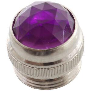 Violet amp jewel pilot lamp lens with metal base fits most Fender Mesa Peavey