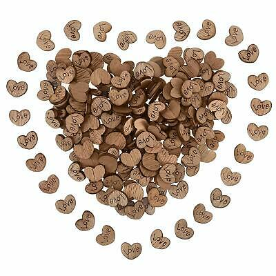 Wooden Hearts Love Wood Confetti Rustic Wedding Party Table Decoration DIY - Love Table