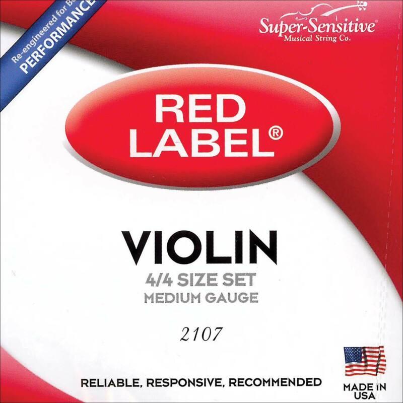 Super Sensitive Red Label 4/4 Violin String Set - Medium - AUTHORIZED DEALER!
