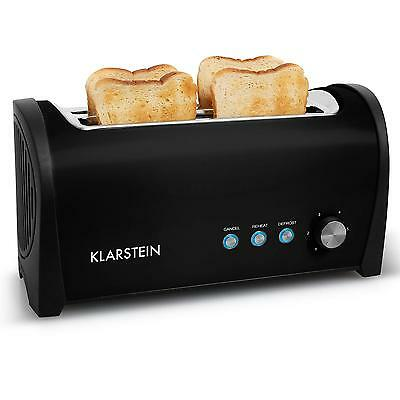 Toaster Slot Sandwich Double 4 Slice Long Space Saving Kitchen Bread Rack 1400W
