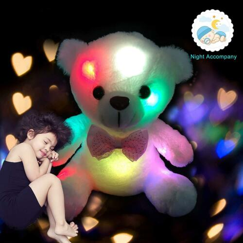 "8"" Cute Plush Toys For Girls Baby LED Light Up Stuffed Bear"