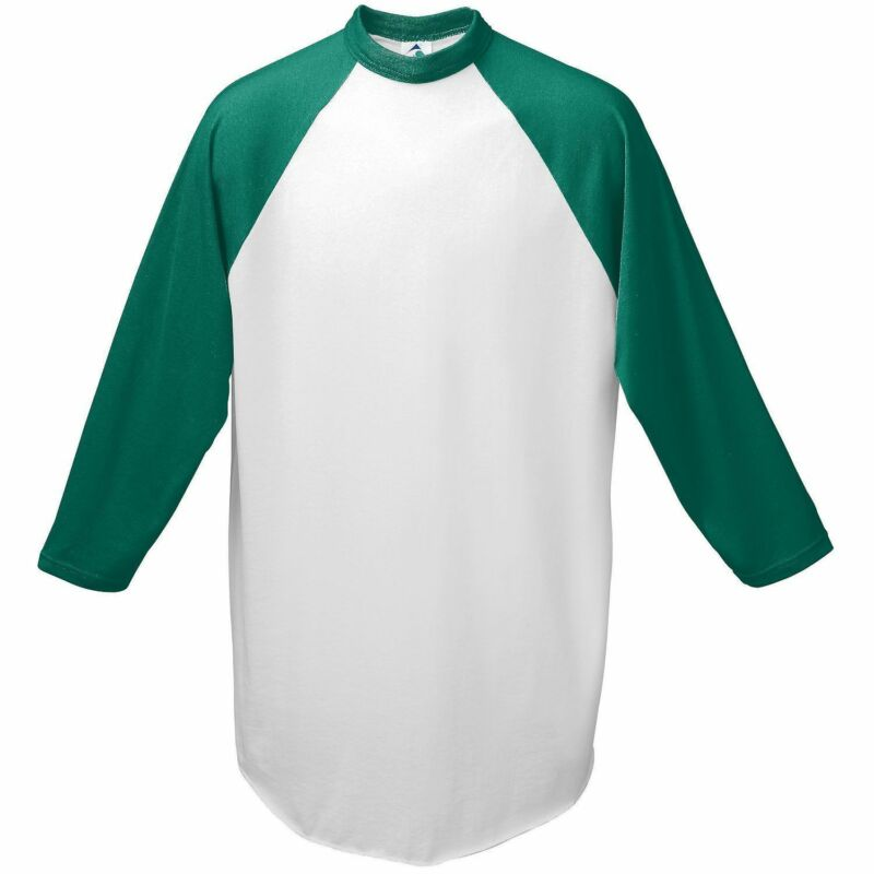 Augusta Sportswear Youth Crewneck Raglan Sleeves Baseball Jersey T-Shirt. 421