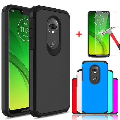 For Motorola Moto G7 Power/G7 Supra Shockproof Case Cover With Screen Protector ()