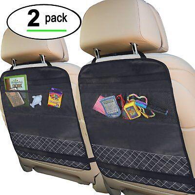 Best Kick Mats with Backseat Organizer Pocket Storage – 100% Waterproof