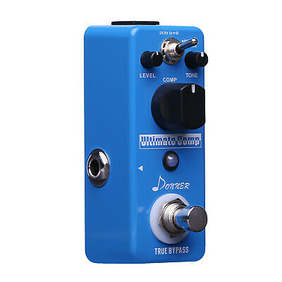 Donner Guitar Effect Pedal Compressor Pedal Ultimate Comp 9V DC Effect Pedal UK