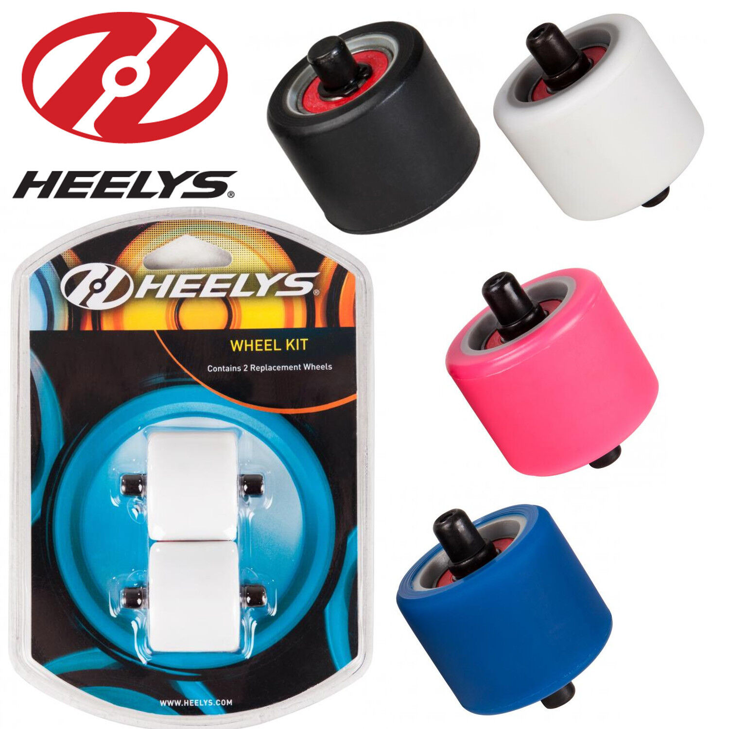 695b965b714ae Details about Heelys Fats Wheels Official Heelys Trainers Replacement 2  Wheel Pack Abec 5