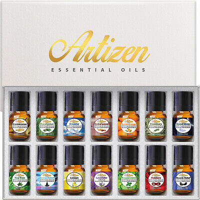 Artizen Aromatherapy Top 14 Essential Oil Set  Therapeutic G