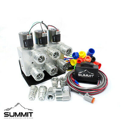 Universal Electric Dual Rear Remote Kit 12v Dc W 3-position Switch Couplers