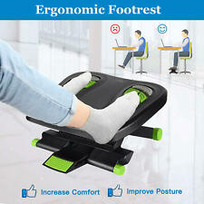 Moustache® Ergonomic Angle and Height Adjustable Footrest For Home & Work,Green