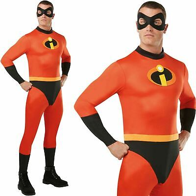 Lizenzierte Herren Herr Unglaubliche Overall Kostüm Disney Superheld - Herr Unglaubliche Kostüm
