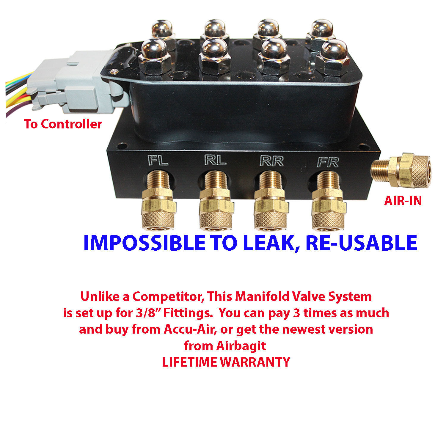 air bag suspension controller accurate air v4 solenoid valve manifold air suspension control wiring harness