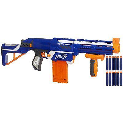 NERF Hasbro Gun N-Strike Elite Retaliator Series Soft Foam Dart Kids Toy Blaster