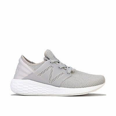 Womens New Balance Womens Fresh Foam Cruz V2 Knit Running Shoes in Light Grey -