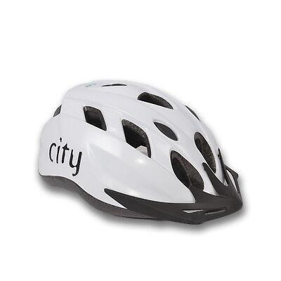 FISCHER Fahrradhelm City 58-62cm weiß L-XL Sturzhelm Radhelm Erwachsene Helm