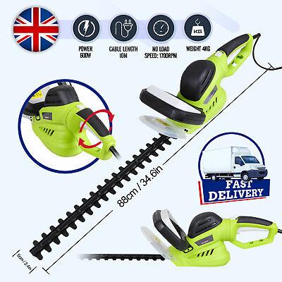 10M Long Reach 240V Power Cord Hedge Trimmer Garden Gear Bush Cutter Lightweight