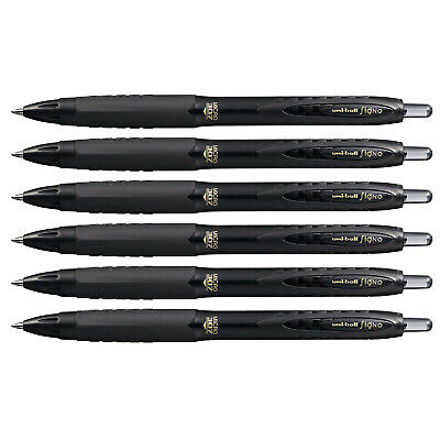 Uni-ball Signo 307 Retractable Gel Ink Pen 0.5mm Micro Point Black Ink 6-count