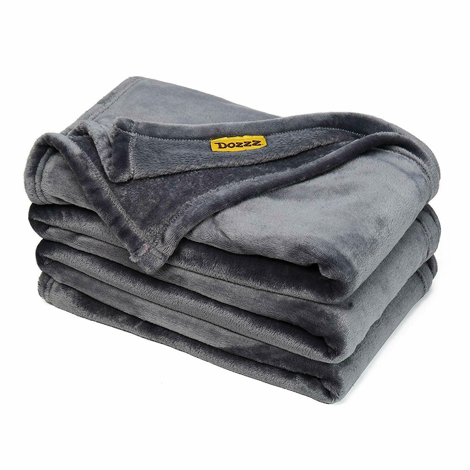 Oversize Flannel Throw Blanket with Cozy Plush Soft Cover Fo