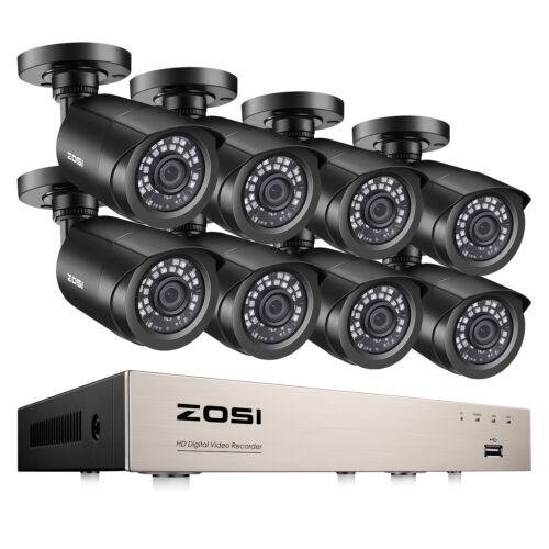 ZOSI H.265 8CH 5MP Lite DVR 1080P HD CCTV Security Camera System IR Night Vision