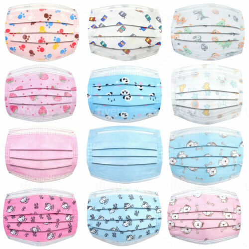Face Masks For Kids Disposable,3 Ply Face Mask Non-woven,breathable & Disposable