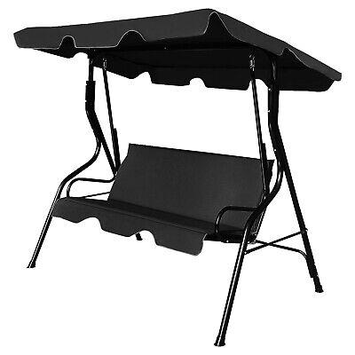 Hammock Outdoor Garden Patio 3 Seater Metal Swing Chair Cushioned Bench Swinging