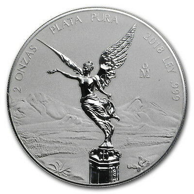 2018 Mexico 2 oz Silver Reverse Proof Libertad - SKU#173393