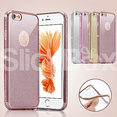Bling Glitter Silicone Diamond Protective Case Cover for Apple iPhone 6 6S Plus