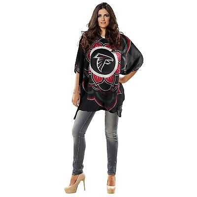 WOMENS Atlanta Falcons SHEER TOP Caftan Style Lightweight Adult One Size NFL
